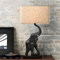 Слон подняв Абажур Настольная лампа освещения luminaria де меса abajur пункт кварто Современные настольные лампы для Спальня