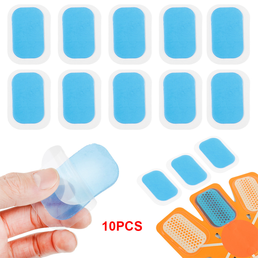 10Pcs ABS Trainer Gel Pads For EMS Abdominal Stickers Hydrogel Hip Abdomen Muscle Stimulator Slimming Massage Replacement Patch