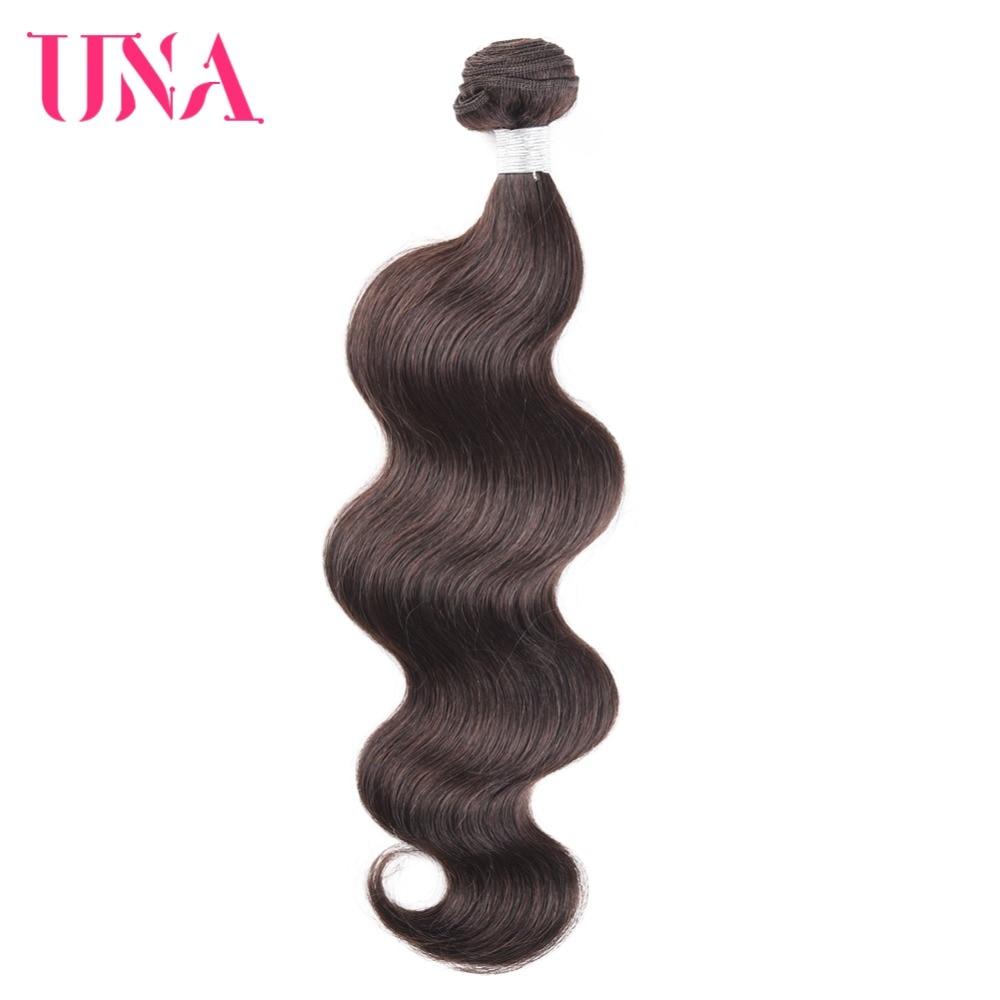 UNA Brasil Rambut Bundel 1 Piece # 2 Gelombang Tubuh Brazilian - Rambut manusia (untuk hitam)