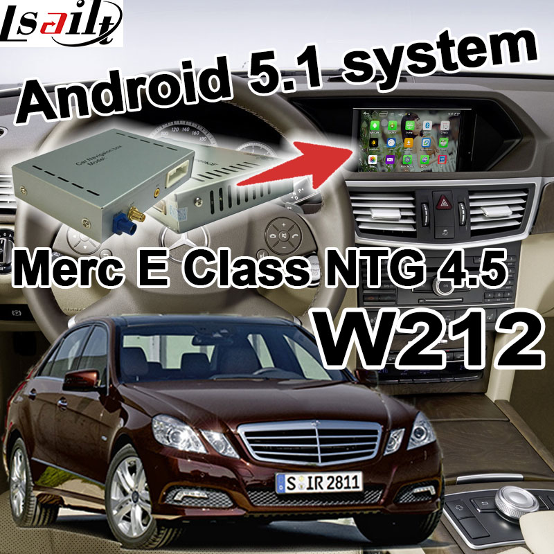 Android GPS navigation box for Mercedes benz E Class W212 NTG 4 5 COMMAND AUDIO20 video