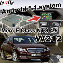 Android cuadro de navegación GPS para mercedes-benz Clase E W212 NTG 4.5 COMANDO AUDIO20 caja de interfaz de vídeo youtube waze wifi