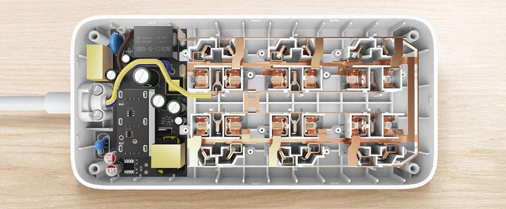 XIAOMI MIJIA Smart Power Strip 2A Fast Charging 3 USB Extension Socket Plug 6 Standard Socket Adapter 1.8m 100% Original (6)