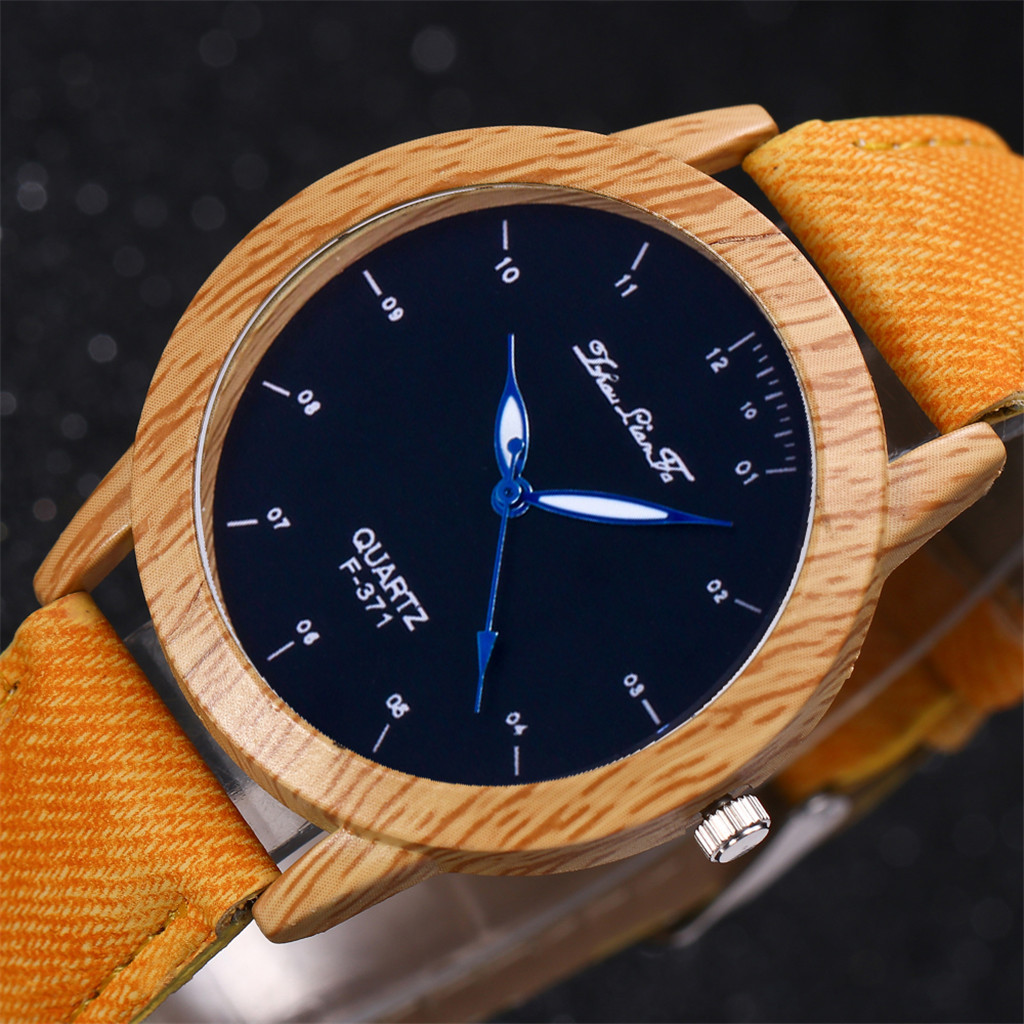 Female Watch Wooden-Case Leather-Band Sport Unisex Luxury Brand Dress Relo Fashion Lady