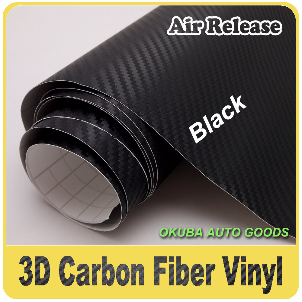 3D Carbon Fiber Car Wrap Vinyl Wrap Car Sticker Film 1 52m x30m Twill Weave Texture
