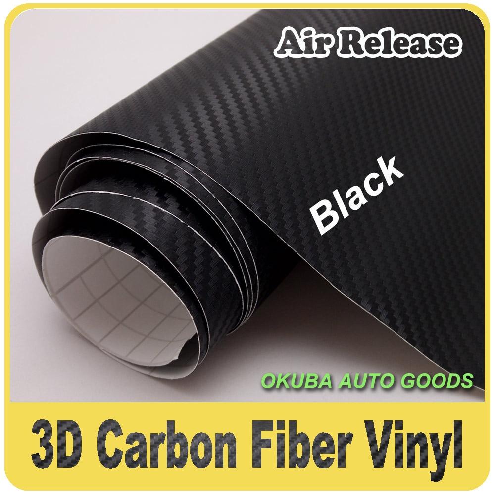 3D виниловая пленка для автомобиля из углеродного волокна/1,52 м x 30 м Twill Weave Texture Бесплатная доставка Wordlwide по FedEx