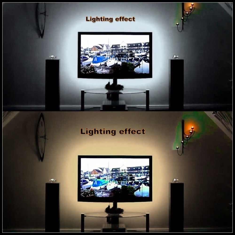 USB Mini 3key LED Strip DC 5 V Fleksibel Lampu 60 LED 50 CM 1 M 2 M 3 M 4 M 5 M SMD 2835 Desktop Dekorasi TV Layar Pencahayaan Latar Belakang