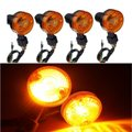 4PCS Motor Motorcycle Turn Signal Light Direction Indicator Lamp Amber