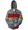 Borgore Logo Hoodie Funny Hipster Coats Women Men Zipper Hoody Sweatshirts Casual Jumper Outfits harajuku Tops plus size S-XXL