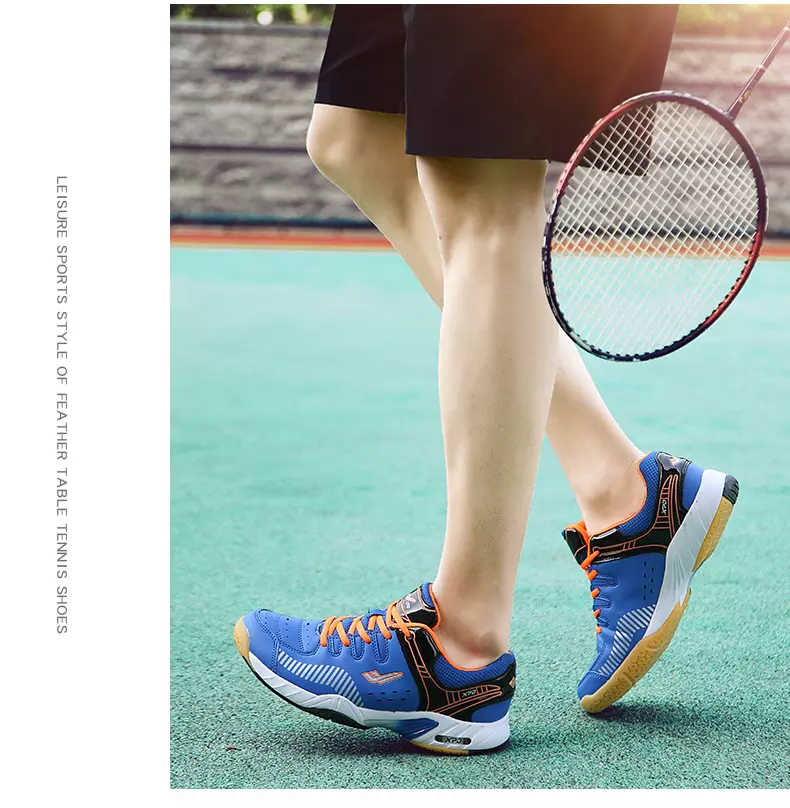 Professional High quality badminton shoes, shock absorbing and skid sports shoes for men and women's comprehensive sneakers