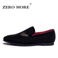 ZERO MORE New Season Fashion Men S Loafers Microfiber Pointed Toe Men Shoes High Quality Paste