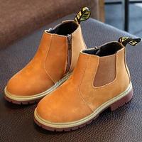 2016 Autumn Winter New Handmade Comfortable Girls Boots Leather Martin Boys Boots Fashion Kids Boots High