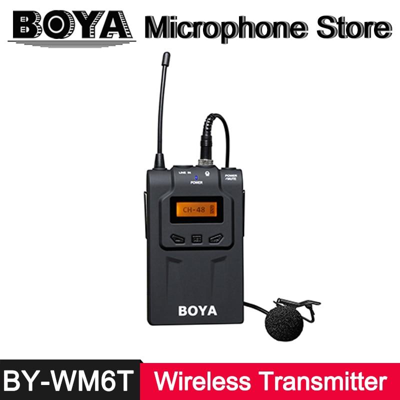 BOYA BY WM6T Wireless Lavalier Microphone Transmitter for BY WM8 BY WM6 Receiver BY WM8R BY WM6R ENG EFP DSLR Video Recording