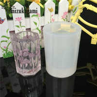 1pcs UV Resin Jewelry Liquid Silicone Mold Dried Flowers Octagon Container Cup Molds For DIY Intersperse Decorate Making Jewelry