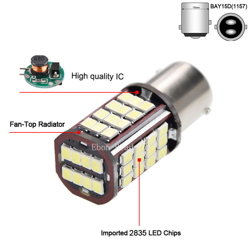 Image 2 - 10Pcs 1157 BAY15D P21/5W LED Car Motorcycle Bulb 6V DC 840LM Motorbike Tail Brake Stop Parking LED Light Lamp White Dual Beam-in Signal Lamp from Automobiles & Motorcycles