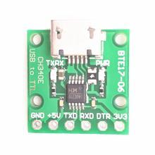 CH340E USB к ttl последовательный преобразователь 5 V/3,3 V альтернативные CH340G модуль для Arduino Pro mini