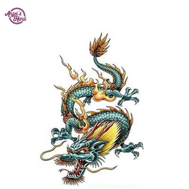 Dragon Chinois angel's main dragon chinois bricolage 5d diamant mosaïque diamant