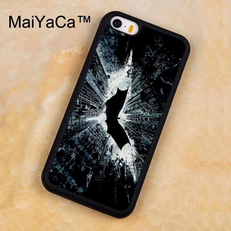 Maiyaca Бэтмен Темная ночь чехол для iPhone 5 5S SE случае резина мягкая задняя крышка для iPhone 5 5S se fundas телефон аксессуар