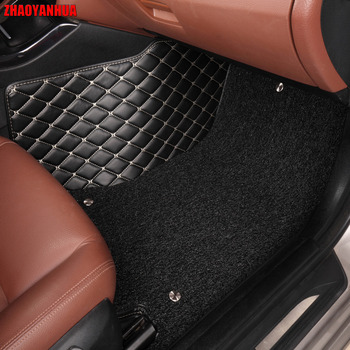 ZHAOYANHUA car floor mats for Mitsubishi Lancer Galant ASX Pajero sport V73 car styling all weather carpet floor liner