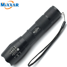 ZK58 Portable LED Flashlight LED Torch Zoomable Flashlight 4000LM E17 CREE XM-L T6 LED 5 Mode Light For 18650 or 3xAAA Battery