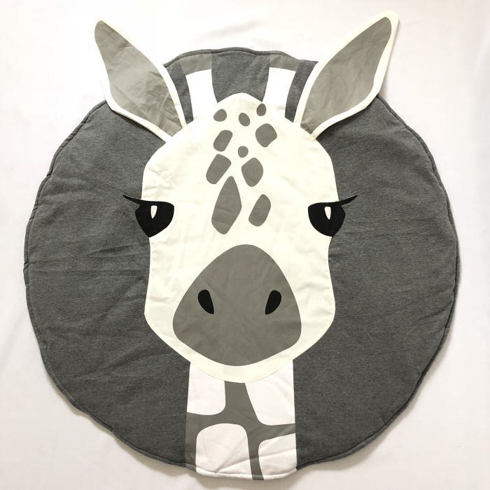 95 см детская игра коврики круглый коврик, мат хлопок Лебедь Ползания одеяло пол ковер для детской комнаты украшения INS подарки для малышей - Цвет: Giraffe 90cm