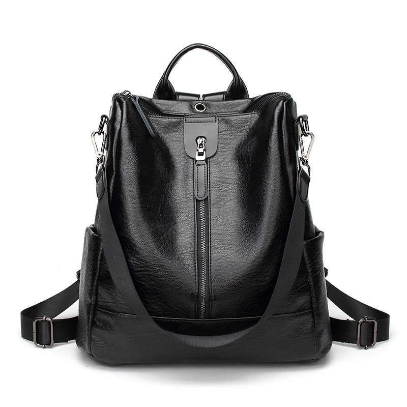Hakiki deri sırt çantası kadın moda okul gençler için çanta rahat sırt çantaları deri Laptop marka 2019 çanta kadın C695