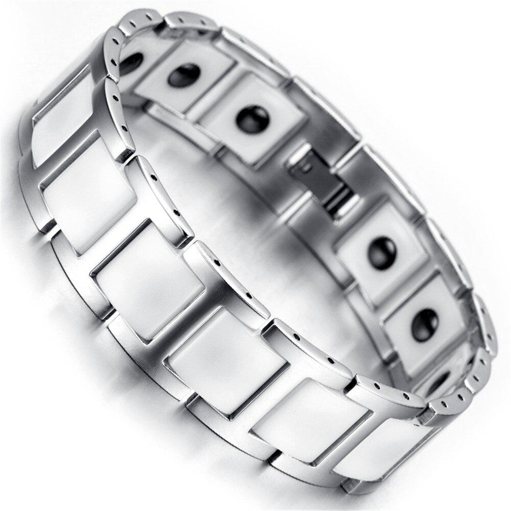 Mens Tungsten Bracelet, Silver, White, Heavy,8.8