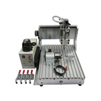 Mini 4axis 3axis CNC wood Router 3040 800W water cooling spindle metal Engraving Drilling Milling Machine ER11 collet chuck