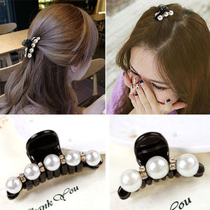 New Hair Claws Barrettes Pearl Plastic Hair Pin Hair dress Accessories for Women and Girls big or small size Free shipping