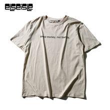 elseisle Brand-clothing harajuku Printed letters funny T shirts for men T-shirt Casual cotton Short Tshirt Fashion 2017 now