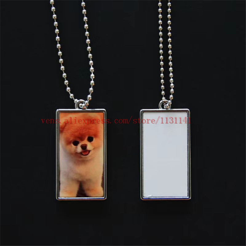 US $43 35  sublimation dog tag bone shield shape necklaces pendants hot  transfer printing blank consumables 35pieces/lot print two sides-in  Pendants