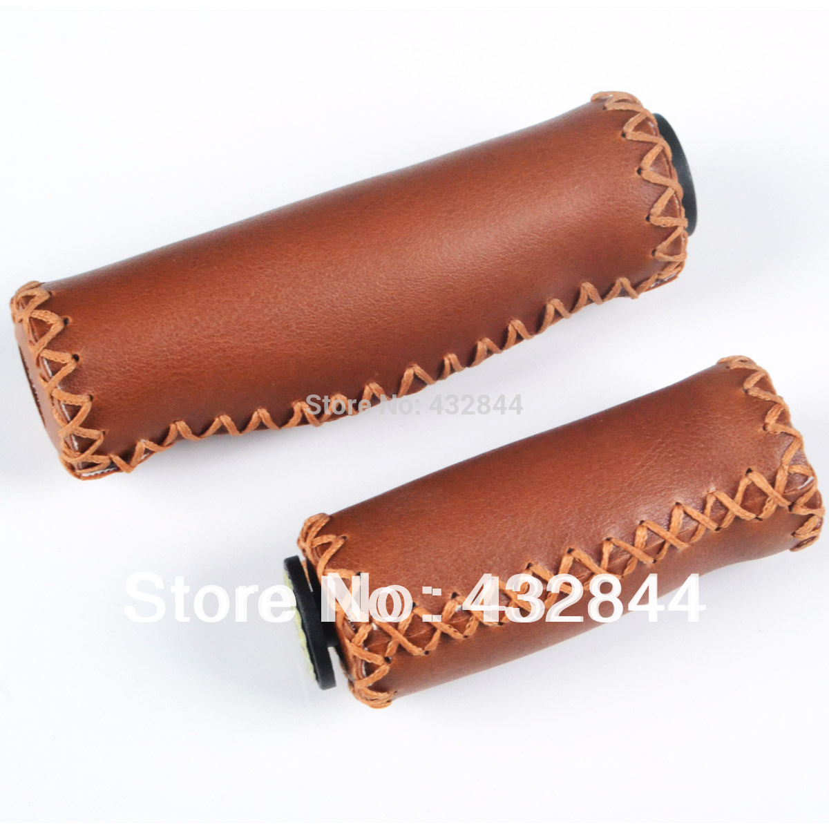 Mountain Bike Bicycle Cattlehide Brown Handlebar Grips MTB handle cover 127mm 90mm part shipping free