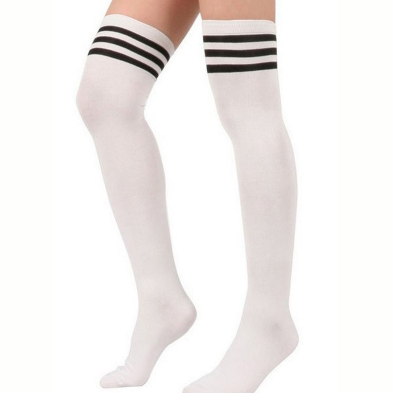 Fashion Brand Designer Women Over The Knee Socks Thigh High Thick Lovely Girls Princess Knee High Long Socks 2017 New Stocking ...