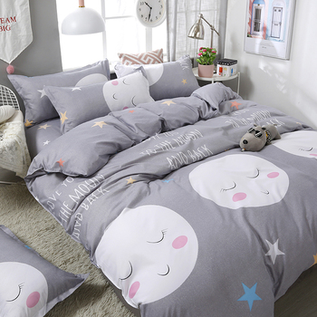 Brief Style Cartoon Printing Comfortable Bedding Set Bedding Sets