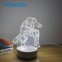 חדש מגניב 3d גולגולת הנורה baymax איש ברזל דארת ויידר ספירלת עץ מצב רוח led מנורת שולחן לילה אור מתנה הטובה ביותר