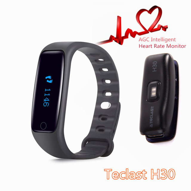Brand Teclast H30 Smart Wristband AGC Intelligent Heart Rate Monitor Band Bracelet Pedometer Fitness SmartBand Reminder Android
