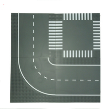Crossroad Curve T Junction Road Building Blocks Parts Bricks Base Plate Models City Street font b