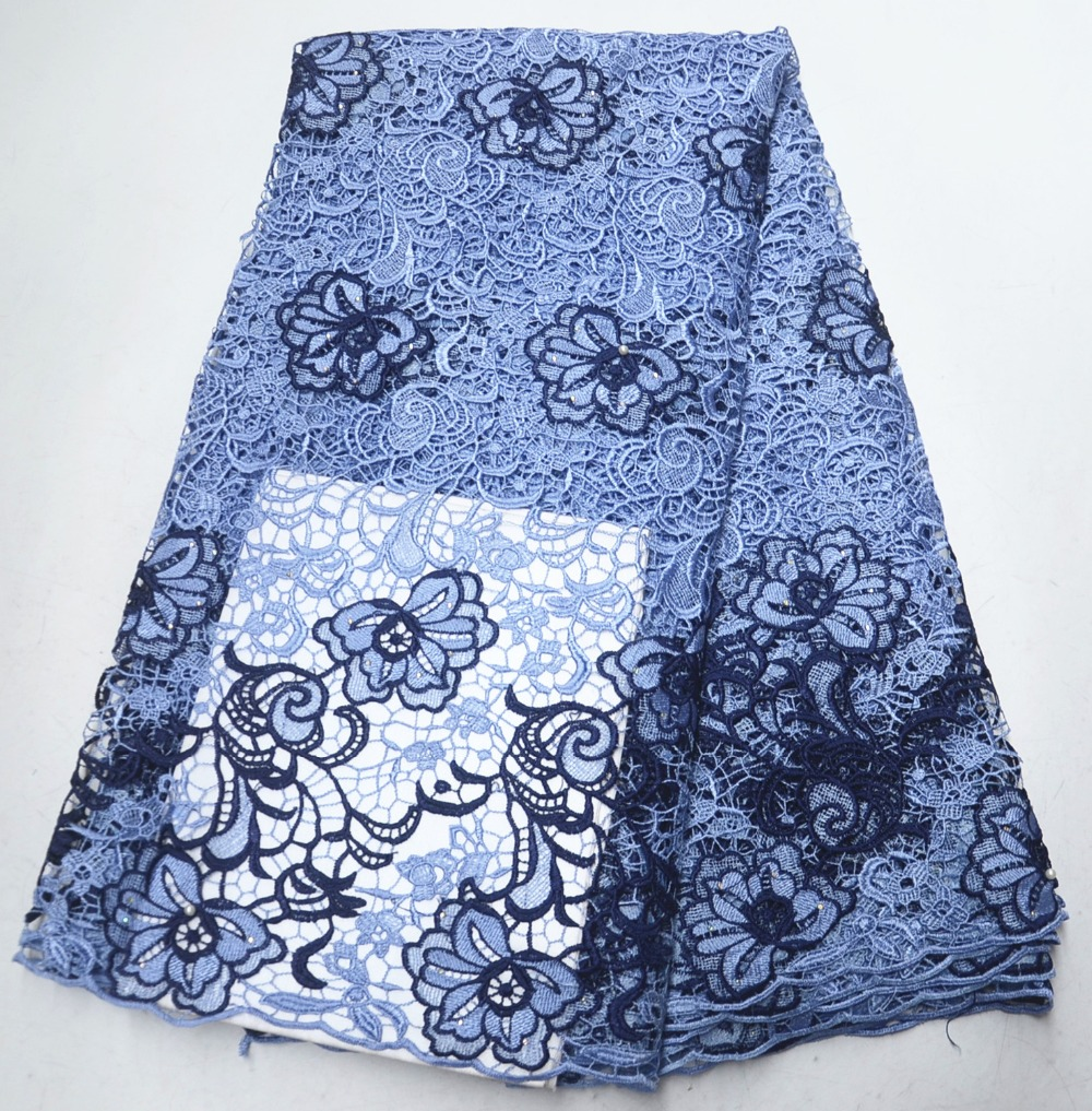African Lace Fabric High Quality French Water Soluble Lace Embroidered Fabric For Nigerian Wedding DressesAfrican Lace Fabric High Quality French Water Soluble Lace Embroidered Fabric For Nigerian Wedding Dresses