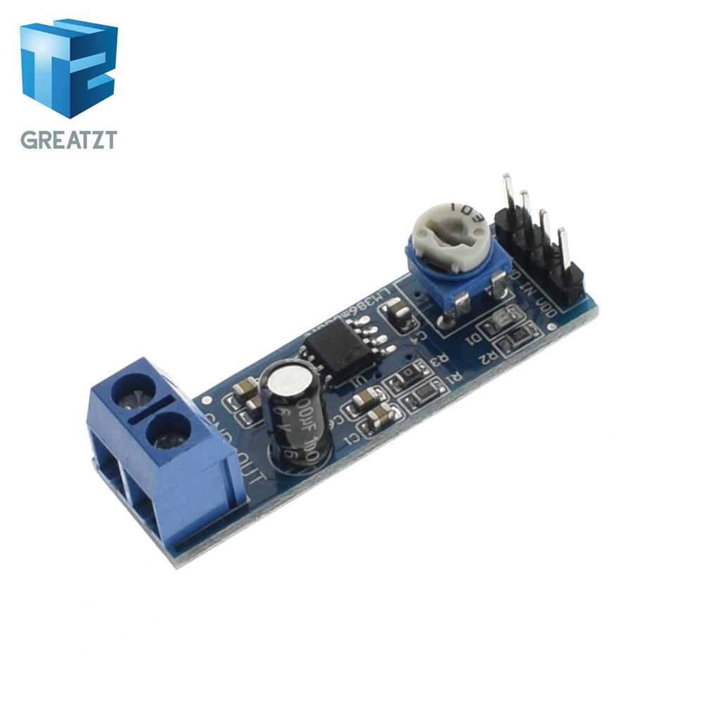 Greatzt 200 Times Gain 5v 12v Lm386 Audio Amplifier Module 10k Schematic Using Laser Diode And Low Voltage Adjustable Resistance Multiplier Speaker Wire Holder In Integrated Circuits From