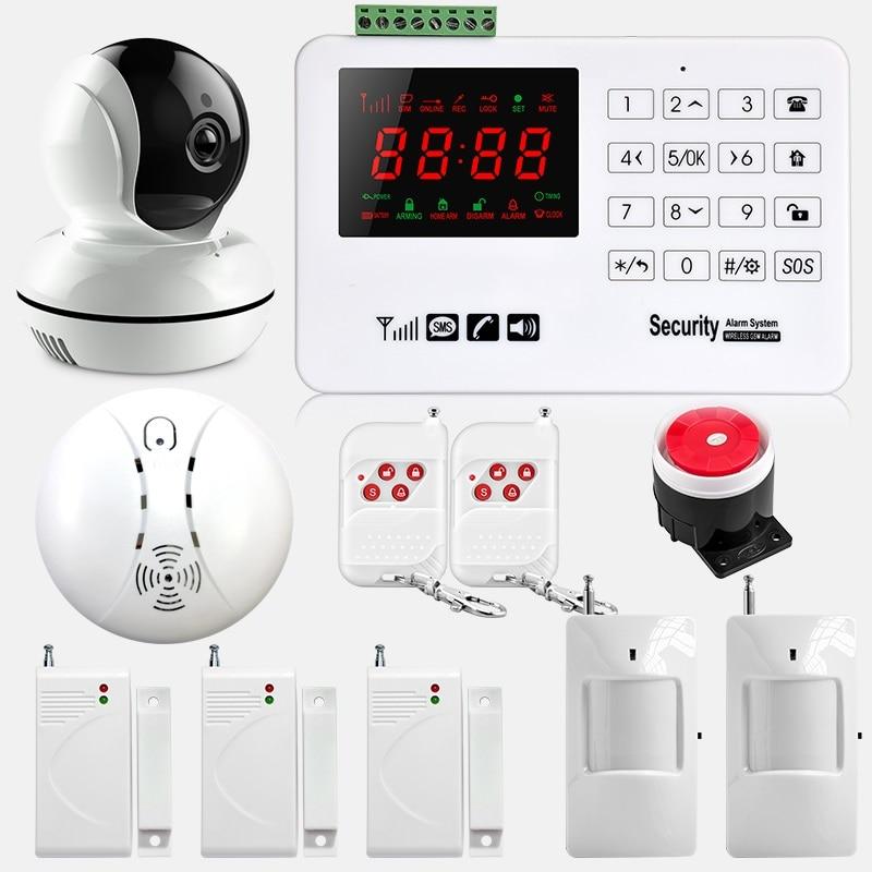 SMARSECUR Wireless GSM Alarm System 433MHz Home Burglar Security Alarm System Touch Keyboard