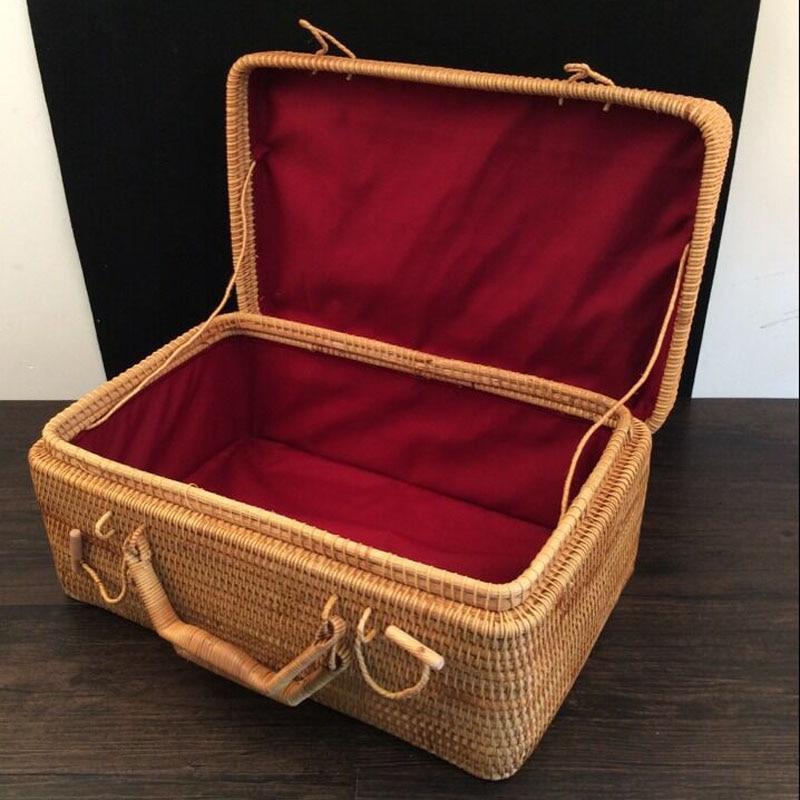 Decorative Luggage Box Magnificent 100% Handmade Vietnam Rattan Rectangle Decorative Luggage Boxes 2018