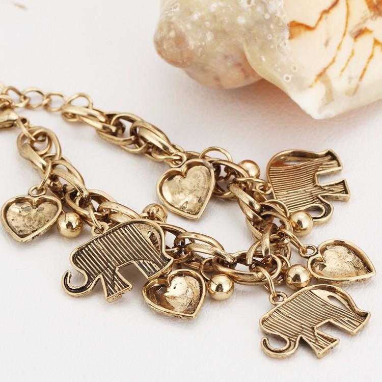 IF YOU Vintage Silver Color Elephant Charm Bracelet For Men Bohemian Statement Bracelets Bangles pulseira Feminina Jewelry Gift 11