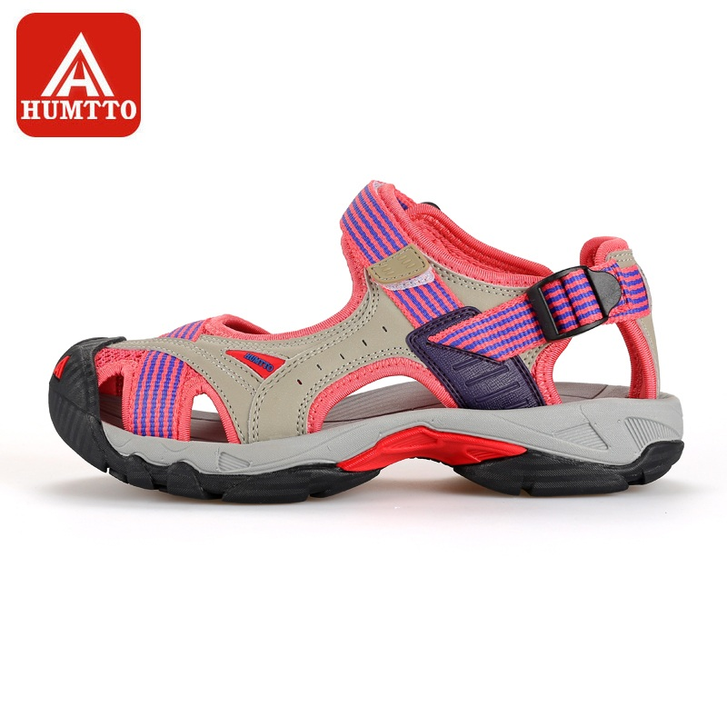 HUMTTO Outdoor Women's Upstream Shoes Breathable Summer Aqua Shoes Rubber Air Mesh Sandals Wading Quick Drying Beach Sneaker