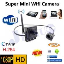 Горячие продаж мини-wifi наблюдения 1080 P 2.0MP HD сети видеонаблюдения в помещении сети IP камера, Onvif H.264 небольшой дом видео камерой