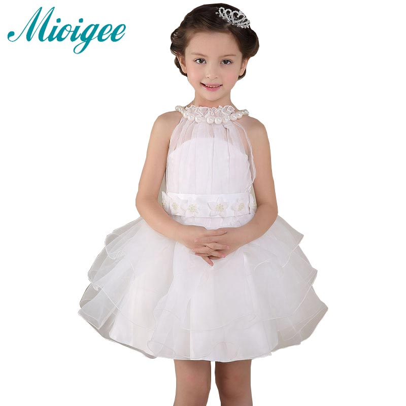 Girls dresses summer 2017 children clothes girls beautiful bow dress white baby girls dress teenager kids dress for age 3-12Y new summer baby girls floral dress with cap european style designer bow children dresses kids clothes 3 8y