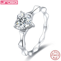Jrose Simulated Anniversary Promise Wedding Band Engagement Ring Bridal Set 925 Sterling Silver Jewelry Free Shipping