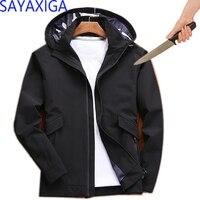 Новая тактическая куртка для самообороны с защитой от порезов и ножей, куртка с капюшоном с защитой от ударов, куртка с длинными рукавами в с