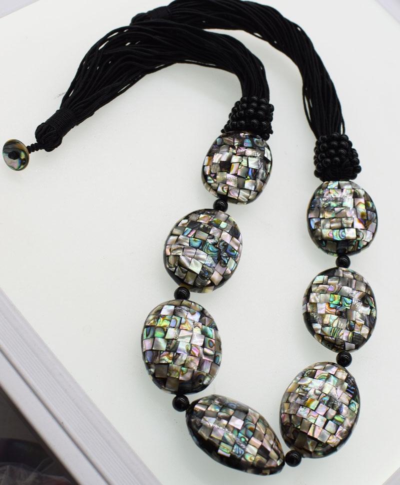 Collier noir en coquillage dormeau plat 35-40mm 26 pouces FPPJ perles en gros natureCollier noir en coquillage dormeau plat 35-40mm 26 pouces FPPJ perles en gros nature