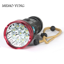15000 lumens SKYRAY King 9T6 LED flashlamp 9 x CREE XM-L T6 LED Flashlight Torch