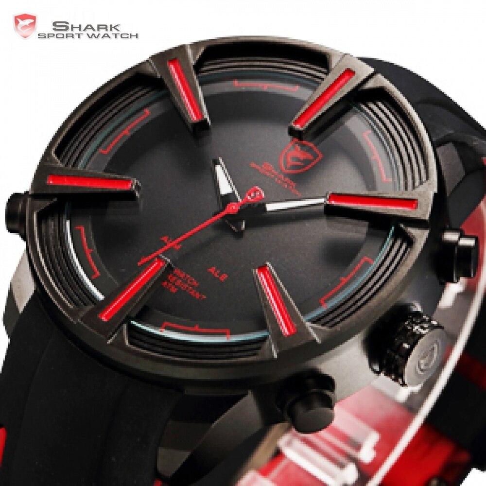 Chien de mer requin Sport montre chaude numérique rouge LED calendrier alarme militaire hommes mode Silicone bracelet montres horloge cadeau/SH384 - 2