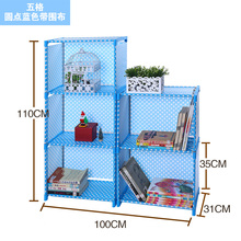 New simple bookshelf Clothes Shelf Bookcase storage rack shelf storage rack student small package